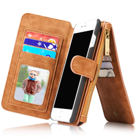 Newest Popular Style Protectvie Mobile case 2 in 1 Wallet leather case for iPhone 7 7 Plus,mobile phone accessories