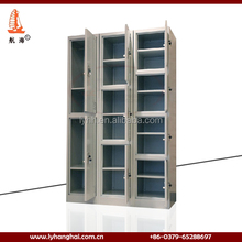 professional key lock school furniture clothes storage locker with partition