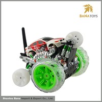 High quality boy rotation rc toy car with light and music