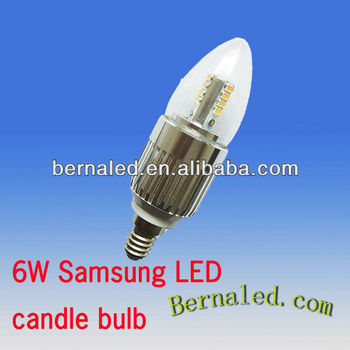 6w Samsung led candle bulb light