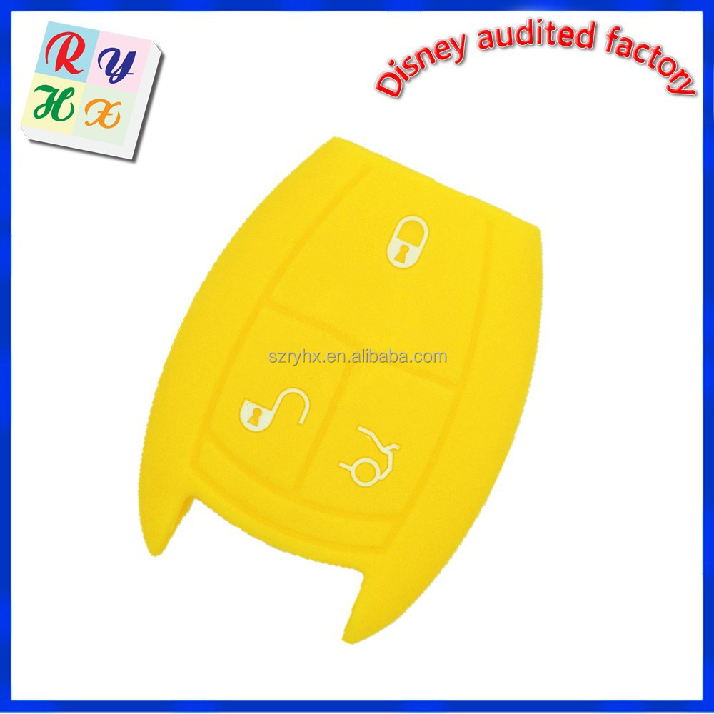 Manufacturer Supply Auto Parts Silicone Car Key Cover for Benz