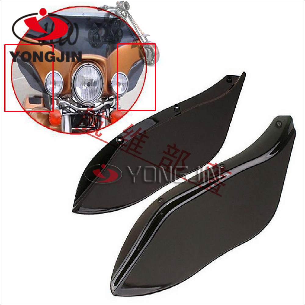 Dark Smoke /Black wind deflector hard-coated polycarbonate side windshield for harley davidson