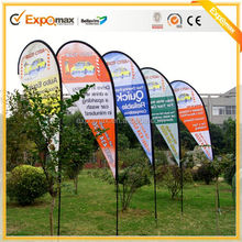 wholesale outdoor advertising 2.8m flags beach flag banner sports team flags and banners