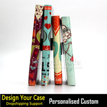 2017 custom printing flip leather wallet mobile phone cover case for Samsung S7