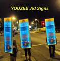 New Generation Walking Billboards! YOUZEE backpack LED sign
