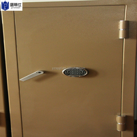 Gold fireprooof gun safe with L type handle