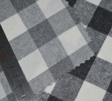 Soft 100% Cotton Flannel woven plaid fabric