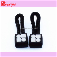 Custom black plastic zipper manufacturer zipper pin and box for bag