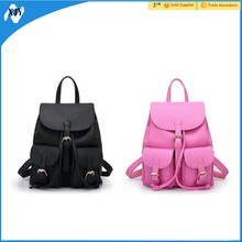 2016 pink black bags lady backpack leather