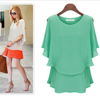 WA2546 summer cheap fashion lady blouses fake 2 pieces woman tops