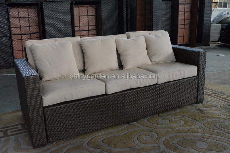 Patio esterno di lusso comfort in rattan di vimini divano in vimini mobili in rattan di vimini - Divano in vimini ...