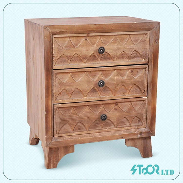 Wholesale triangle wood mini 3-tier shallow drawer