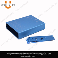 widly used aluminum case with separated body and wall-hanging panels for automation, electronic and electrical