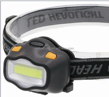 Factory customised high power 3w cob LED Head lamp 2 red led blinking as warning Head light