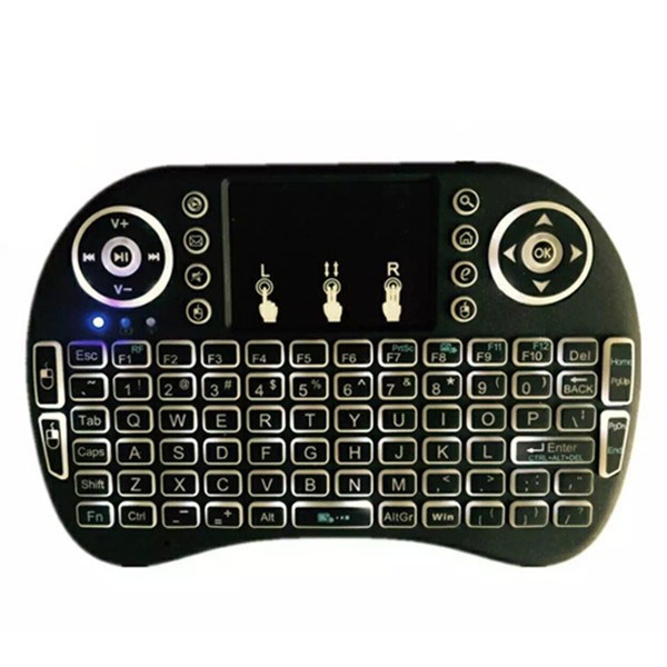 Free Shipping i8 pro 2.4g wireless mini keyboard with touchpad backlit