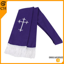 Polyester Fashion Crucifix Embroidered Scarf For Women