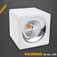 Square surface mounted ultra slim led downlight dimmable