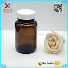 100ml Amber Glass bottle medicine/tablet/pill/capsule/health food bottle