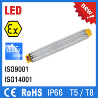 IP66 factory direct sales ATEX IECex approved led fluorescent light for industrial use