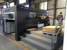 high speed cardboard die cutting and creasing machine with heating plat