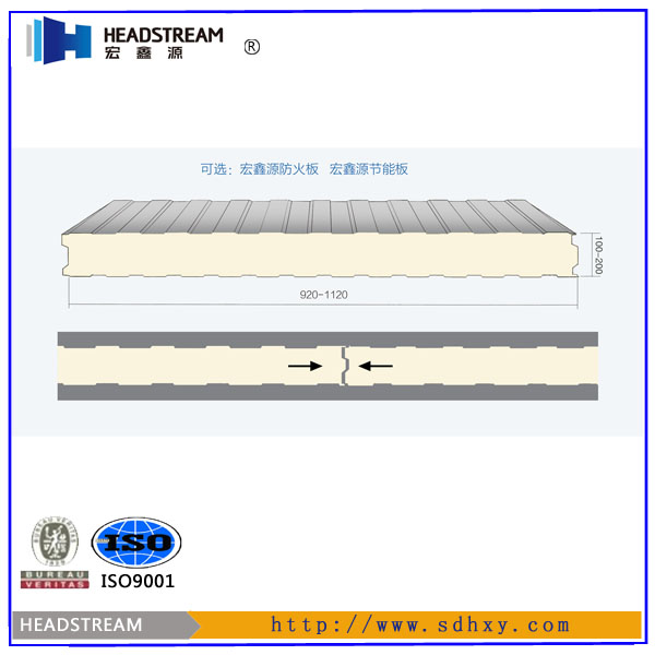 pu sandwich panel production line sheet metal roofing polyurethane foam wall panel