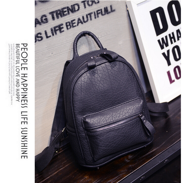 d10828b 2016 wholesale fashion custom women high school leather laptop bag backpack