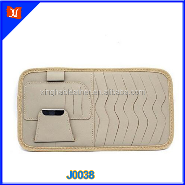 Multi-function Genuine Leather DVD case credit card holder