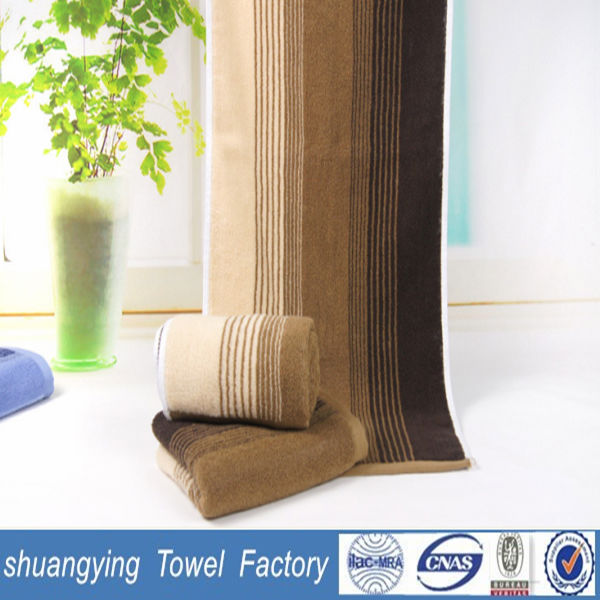 35*75cm high quality terry 100% combed cotton yarn dyed towel