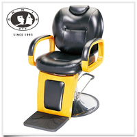 Wholesale factory custom deluxe beauty salon equipment yellow rotatable cheap barber chair