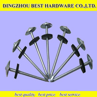 High quality galvanized roofing nail in umbrella head with plastic/rubber washer