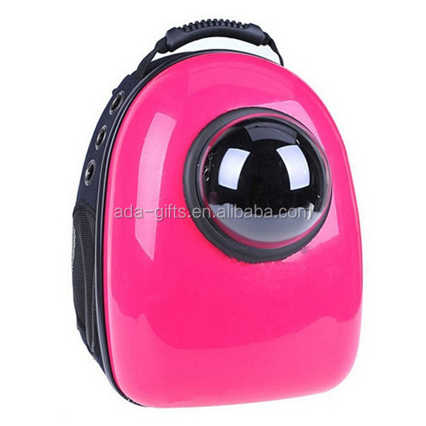 cute air pet carrier backpack dog cat travel outside pet cage travel bag