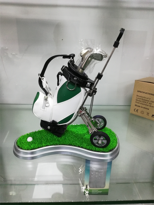 Original Mini Golf Trolley base with Cart Desk Top Pen and Pencil Holder Gifts Golf Clubs Shape
