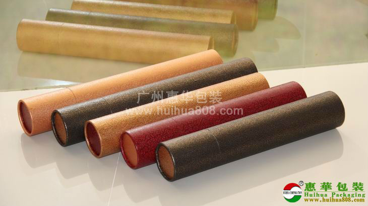 imitation leather paper tube for gifts