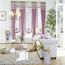Low price beautiful printed window curtains blackout