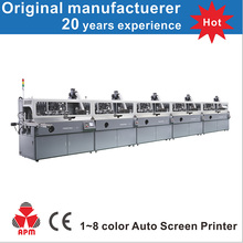 S102 Large Format Automatic 1-8 Color Automatic Silk Screen Printing Machinery
