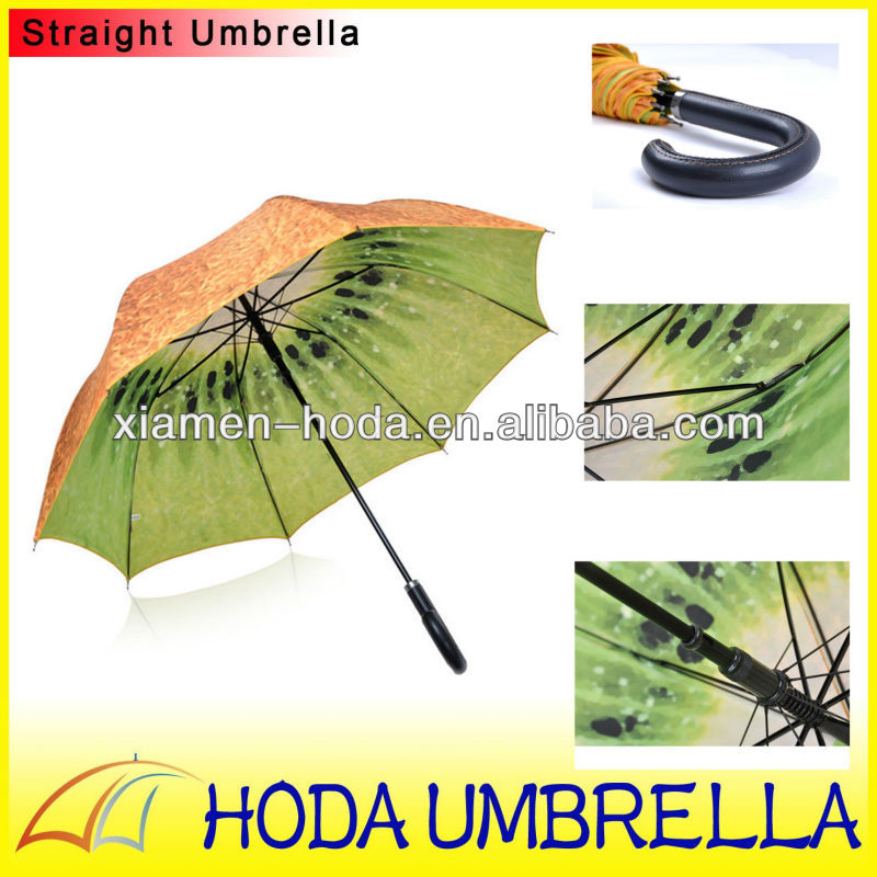 two layers (double layers) Kiwi fruit printing umbrella, custom printing