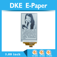 5.0 inch e-paper display full view angle no power need,smart phone e-ink e-paper display