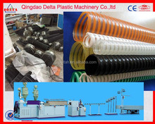 PVC plastic spiral reinforcement hose pipes production line PVC spiral soft flexible hose pipe extrusion machine