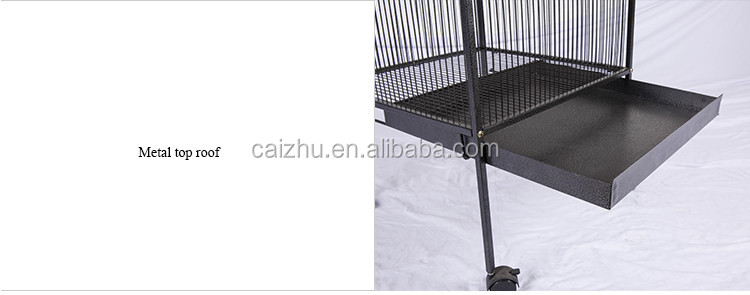Metal top roof vintage Macaw handmade bird cage and aviary for bird