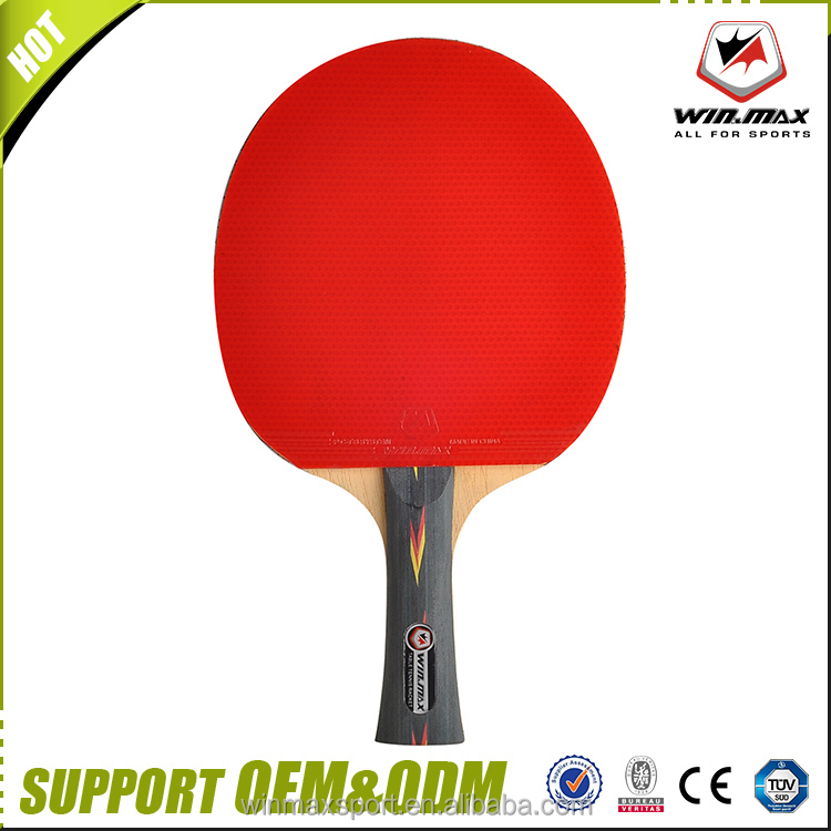 High quality long short handle wood single table table tennis racket 4 stars ping pong paddle