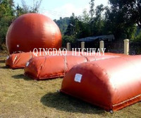 Collapsible and soft pvc storage methane tank