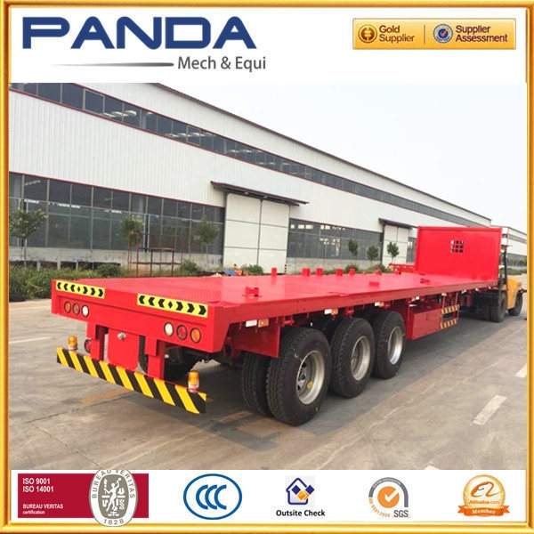 NEW 50ton flatbed semi-reboque esqueleto recipiente 40ft 20ft with gantry