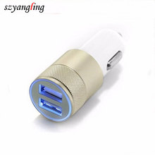 OEM colorful portable multiple 2.1A+1A 5V Dual Car Charger Socket usb car Power Adapter