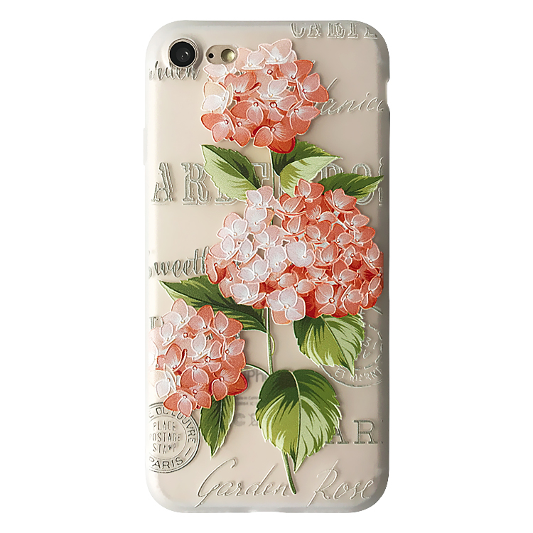 For iPhone 7 Soft Case,3D Emboss Flower Pattern Slim fit Shock-Absorbing Soft Rubber TPU Skin Cover Case