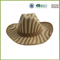 Mixed Color Cowboy Cheap Straw Hat Not Expensive