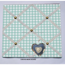 FABRIC NOTICE BOARD Memo/Pin Board - 'plaids- Home Decor