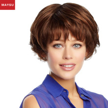 Maysu good quality yiwu wig,best selling 26 inch human hair wig,wholesale price red human hair wig