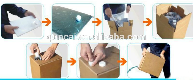 BAG IN BOX with butterfly valve connector plastic electrical box