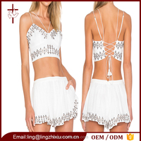 Bulk clothing for sale white summer sexy bustier crop top