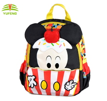 2017 Hot selling Fashion custom back pack polyester cartoon waterproof Kids school backpack bag
